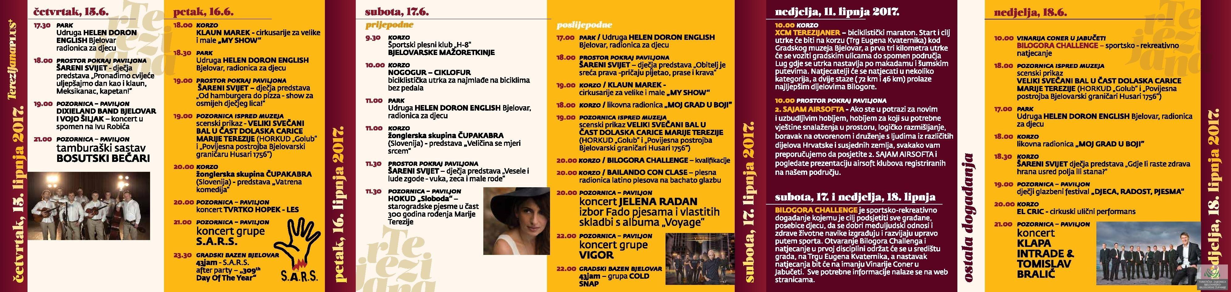 Terezijana 2017. - Program