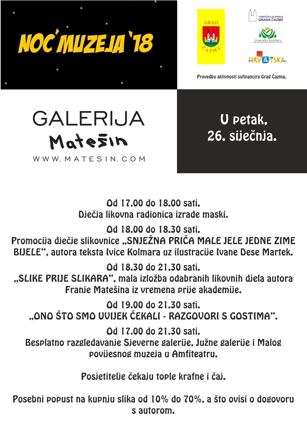 Noć muzeja - Galerija Matešin