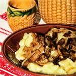 Mushrooms with potato dough